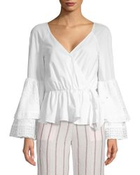 Rebecca Minkoff - Melly Bell-sleeve Cotton Top - Lyst