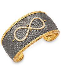 Freida Rothman - Wide Pavé Infinity Cuff Bracelet - Lyst
