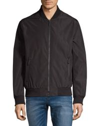 Andrew Marc - Rib-trimmed Bomber Jacket - Lyst
