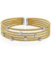 Alor - Classique Diamond, Stainless Steel And 18k Gold Bracelet - Lyst