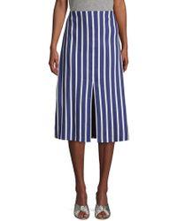 Alice + Olivia - Striped Knee-length A-line Skirt - Lyst