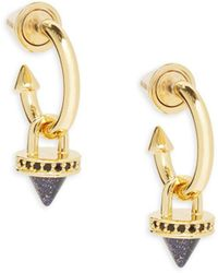 Eddie Borgo - Yellow Gold Push Pin Earrings - Lyst