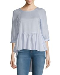 French Connection - Hi-lo Peplum Top - Lyst