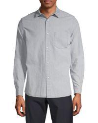 A.P.C. - Surchemise Milan Cotton & Linen Button-down Shirt - Lyst