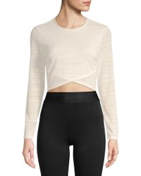 Plenty by Tracy Reese - Long-sleeve Cropped Top - Lyst