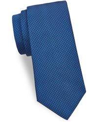 Saks Fifth Avenue - Tonal Geometric Silk Tie - Lyst