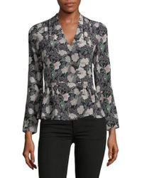Rebecca Taylor - Floral Silk Blouse - Lyst