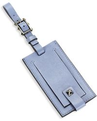 Valentino - Buckled Leather Luggage Tag - Lyst