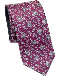 Saks Fifth Avenue - Collection Double Face Flower Silk Tie - Lyst