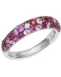 Effy - Pavé Ruby Sterling Silver Ring - Lyst