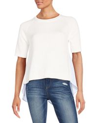 French Connection - Solid Ribbed Roundneck Top - Lyst