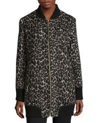 Sam Edelman - Leopard Elongated Jacket - Lyst
