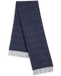 Saks Fifth Avenue - Johnstons Of Elgin Check Patterned Cashmere Fringed Scarf - Lyst