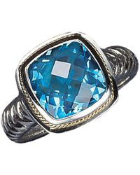 Effy - Balissima Sterling Silver And 18 Kt. Yellow Gold Blue Topaz Ring - Lyst