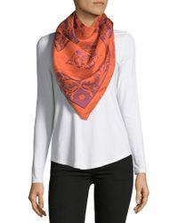 Saks Fifth Avenue - Ornate Floral-print Silk Foulard - Lyst