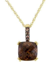 Le Vian - 14k Honey Gold & Chocolate Quartz Pendant Necklace - Lyst