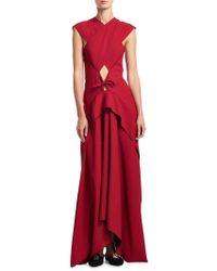 Proenza Schouler - Cross-front Cutout Gown - Lyst