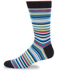 Bugatchi - Striped Crew Socks - Lyst