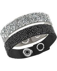 Swarovski - Crystal Rock And Alcantara And Microfiber Bracelet Set - 2 - Lyst