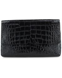 Vince - Embossed Leather Clutch - Lyst