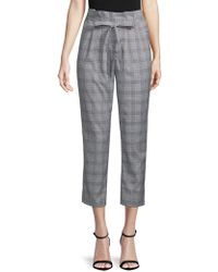 Lea & Viola - Plaid High-rise Trousers - Lyst