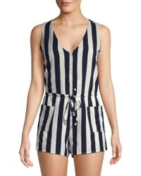 Lucca Couture - Amber Striped Sleeveless Romper - Lyst