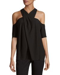 RACHEL Rachel Roy - Halterneck Cold Shoulder Top - Lyst