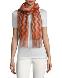 Missoni - Fringed Patterned Scarf - Lyst