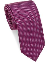 Brioni - Geometric Tight Repeating Silk Tie - Lyst
