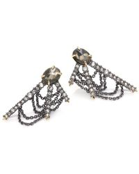 Alexis Bittar - Crystal-encrusted Draping Fringe Earrings - Lyst
