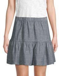 Saks Fifth Avenue - Linen Tiered Skirt - Lyst