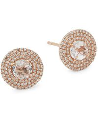 EF Collection | Jumbo Rose Gold Stud Earrings | Lyst