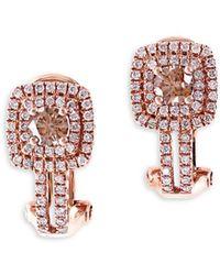 Effy - Final Call Diamond & 14k Rose Gold Earrings - Lyst
