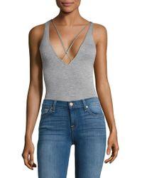 Sam Edelman - Strappy Plunge Bodysuit - Lyst