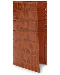 Abas - Embossed Leather Bi-fold Wallet - Lyst