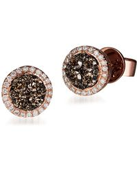 Le Vian - Chocolatier Diamond & 14k Rose Gold Earrings - Lyst