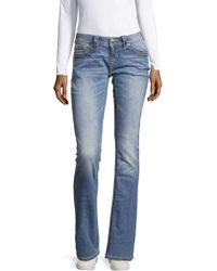 Miss Me - Thick Stitch Relaxed Jeans - Lyst