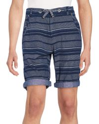 Buffalo David Bitton - Multistriped Cotton Shorts - Lyst
