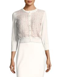 Karl Lagerfeld - Check-front Cardigan - Lyst