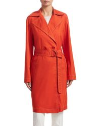 Akris Punto - Double Breasted Trench Coat - Lyst