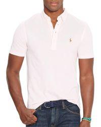 Ralph Lauren Blue Label - Solid Cotton Polo - Lyst