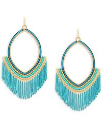 Panacea - Chain Fringe Drop Earrings - Lyst