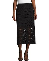 Tibi - Cutout Zippered Skirt - Lyst