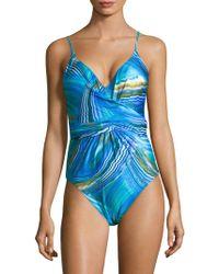 Gottex - Tourmaline One-piece Surplice Swimsuit - Lyst