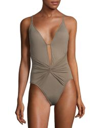La Blanca - One-piece Island Plunge Swimsuit - Lyst