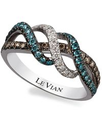 Le Vian - 14k Vanilla Gold Iced Blueberry, Vanilla And Chocolate Diamond Ring, 0.62 Tcw - Lyst
