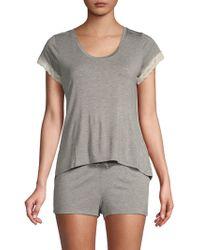 Betsey Johnson - Two-piece Lace-trimmed Shorty Pyjama Set - Lyst