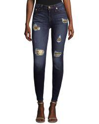 True Religion - Sequin Skinny Jeans - Lyst