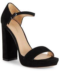 Pour La Victoire - Yvette Block-heel Leather Sandals - Lyst