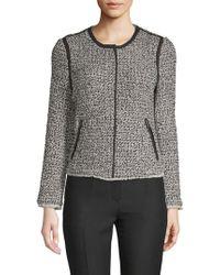 Saks Fifth Avenue - Tweed Zip-up Jacket - Lyst